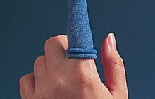 Sõrmeotsa, tekstiil, sinine